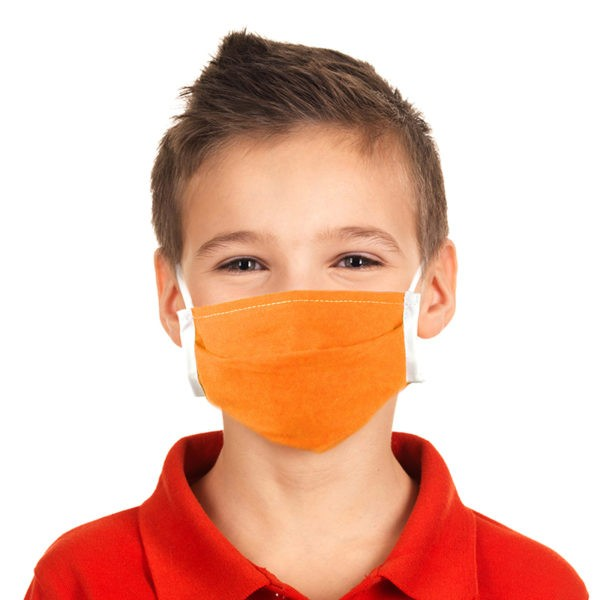 le masque grand public pour enfant Orange
