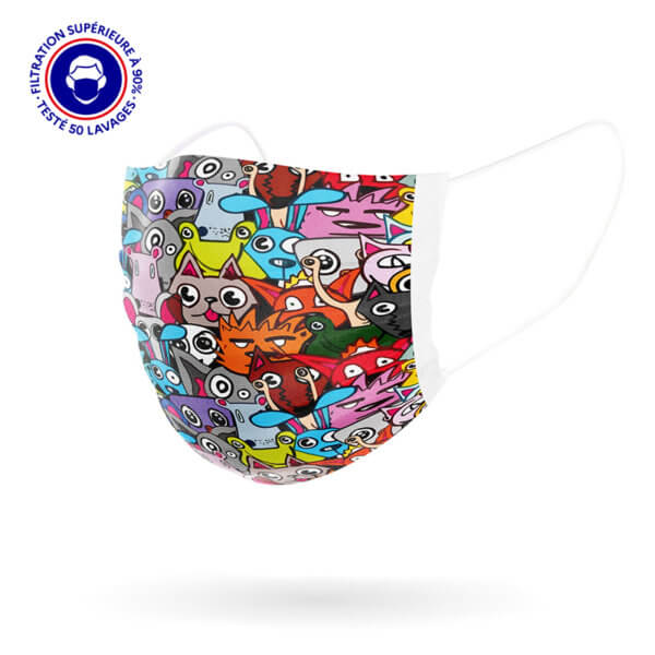 masque enfant Cartoon 3d